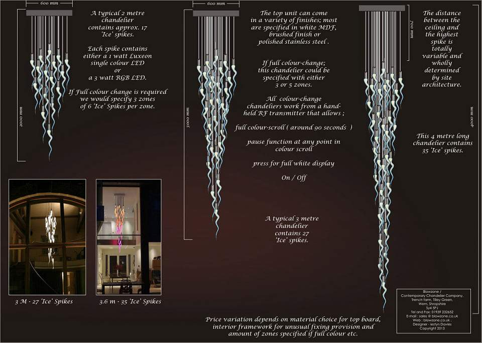 'Ice' Chandeliers